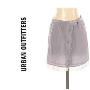 UO PINS AND NEEDLES 100% Silk Lace Trim Skirt